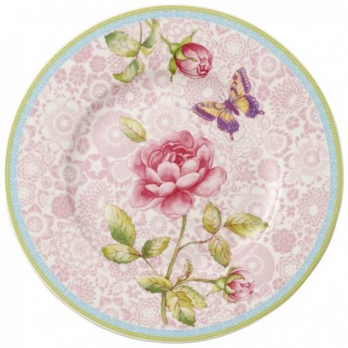 Rose Cottage Salad Plate - Pink 22cm
